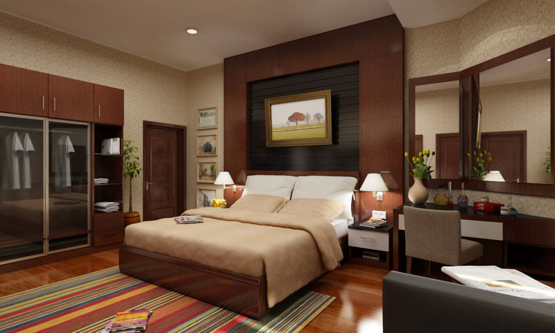 Bedroom Striped Rug. Sphinxallure012b1_raisin_