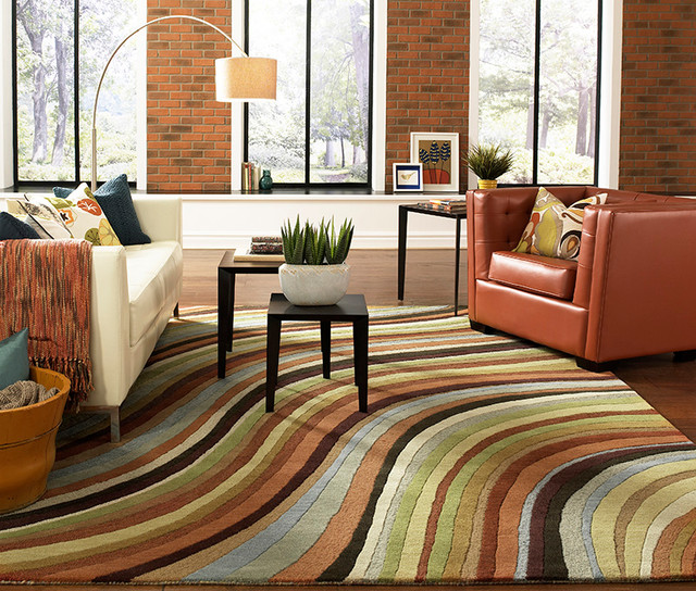 "Wavy Striped Rug ""Oasis"" by Surya, Striped rugs Hampton Roads"