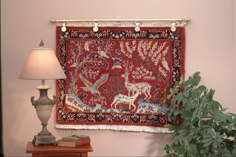 Captivating Rug Hangers U2013 Decorative Rug Clips With Rod Method