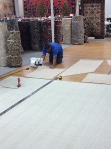 In-house custom carpet facility