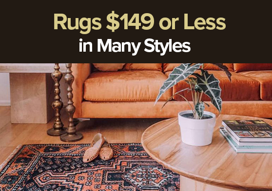 October promo up to 40% off on Modern Decorative Rugs.