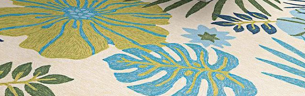 green and blue summer rug